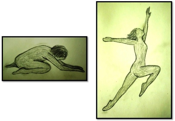 The Dancer - Drawings by Carol A. Hand - Inspired by a courageous and creative student