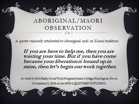 aboriginal mauri quote slide