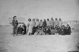 Custer's_Washita_prisoners_at_Fort_Dodge,_1868