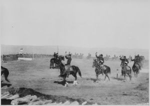 _Saber_Exercises,_Troop_'List_Cavalry,_Ft__Custer_Mont_,_1892___An_Indian_troop_of_U_S__soldiers_-_NARA_-_531125