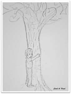 drawing hugging tree 2