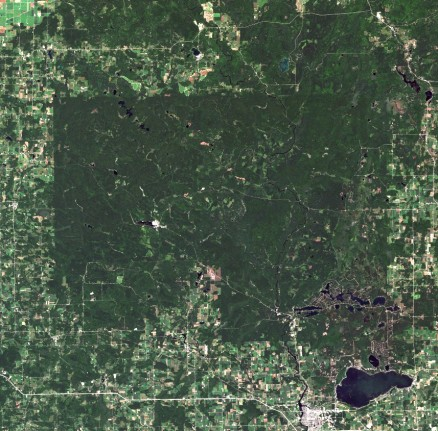 Menominee Tribe Reservation, WI - Satellite image
